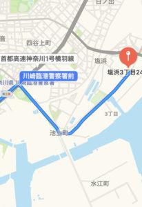 川崎自動車検査登録事務所へのアクセス